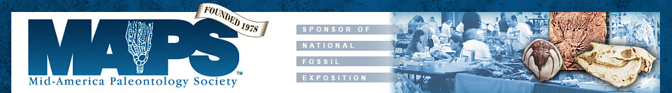 MAPS (Mid America Paleontology Society), Sponsor of National Fossil Exposition